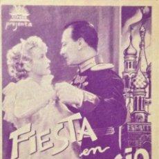 Cine: FIESTA EN PALACIO- PROGRAMA DOBLE- EN BUEN ESTADO, SIN DEFECTOS. Lote 46627327
