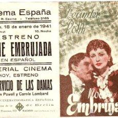 Cine: NOCHE EMBRUJADA 1941 CINE DE BADAJOZ. Lote 46664197