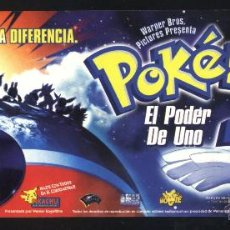 Cine: P-4748- POKÉMON 2: EL PODER DE UNO (FORMATO MARCAPÁGINAS). Lote 46672172
