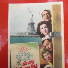 Cine: UN DIA EN NUEVA YORK , FRANK SINATRA ,GENE KELLY- SALON CINEMA , ALCAÑIZ. Lote 46685058