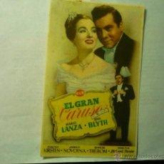 Kino - programa el gran caruso.-mario lanza.-publicidad central cinema-tarragona - 46685337