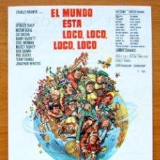 Cine: EL MUNDO ESTA LOCO, LOCO, LOCO, LOCO - STANLEY KRAMER, SPENCER TRACY - CON PUBLICIDAD. Lote 113137408