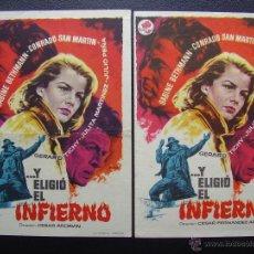 Cine: Y ELIGIO EL INFIERNO, CONRADO SAN MARTIN, VARIANTE. Lote 46707147