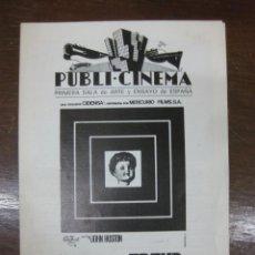 Cine: PROGRAMA DE CINE LOCAL. FREUD. PASION SECRETA. JOHN HUSTON. PUBLI CINEMA SALA DE ARTE Y ENSAYO. . Lote 46742304