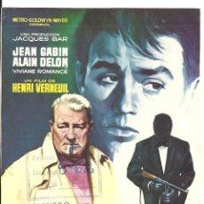 Cine: GRAN JUGADA EN LA COSTA AZUL JEAN GABIN ALAIN DELON PROGRAMA PRUEBA DE IMPRENTA DEL CARTEL. Lote 46783874