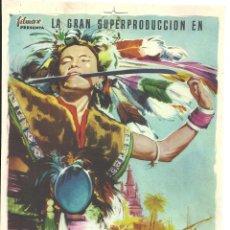 Cine: EL CONTINENTE PERDIDO PROGRAMA PRUEBA DE IMPRENTA DEL CARTEL. Lote 46785421