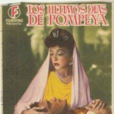 Cine: LOS ÚLTIMOS DÍAS DE POMPEYA. SENCILLO DE FILMÓFONO.. Lote 46837602