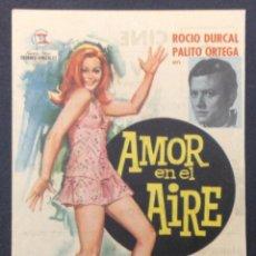 Cine: AMOR EN EL AIRE. ROCIO DURCAL. PALITO ORTEGA. CINE VICTORIA. BADALONA.. Lote 46886403