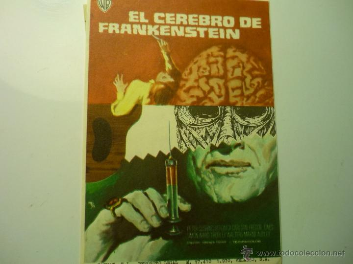 PROGRAMA EL CEREBRO DE FRANKENSTEIN -PETER CUSHING (Cine - Folletos de Mano - Terror)