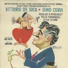 Cine: PROGRAMA DE MANO DE LA PELICULA HABLEMOS DE AMOR CON VITTORIO DE SICA. Lote 46941366