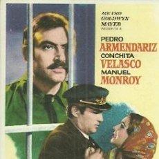 Foglietti di film di film antichi di cinema: PROGRAMA DE MANO DE LA PELICULA EL INDULTO CON CONCHITA VELASCO. Lote 46941724