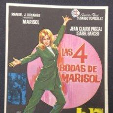 Cine: LAS 4 BODAS DE MARISOL. JEAN CLAUDE PASCAL. ISABEL GARCES.. Lote 46969619