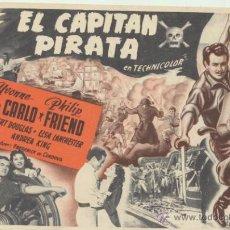 Cine: EL CAPITÁN PIRATA. SENCILLO GRANDE DE UNIVERSAL.. Lote 178603916