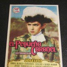 Cine: PROGRAMA DE MANO CINEMA TEXAS. EL PEQUEÑO CORONEL. JOSELITO. TOMÁS BLANCO. MARÍA MAHOR. Lote 46980428