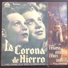 Cine: LA CORONA DE HIERRO. ALEJANDRO BLASETTI. CINE RIALTO. ESPARRAGUERA.. Lote 47018160