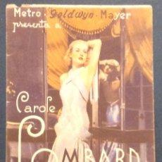 Cine: CAROLE LOMBARD EN LA NOVIA ALEGRE.METROPOL CINEMA. VILASSAR DE DALT.. Lote 47018756