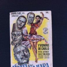 FOLLETO DE CINE (HOTEL SAHARA) PUBLICIDAD: TEATRO JOFRE, FERROL