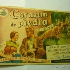 Cine: PROGRAMA CORAZON DE PIEDRA- . Lote 47038960