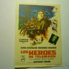 Cine: PROGRAMA LOS HEROES DE TELEMARK.-KIRK DOUGLAS. Lote 144128982