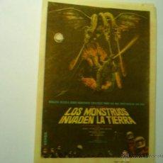 Cine: PROGRAMA LOS MONSTRUOS INVADEN LA TIERRA.- PUBLICIDAD. Lote 209299611