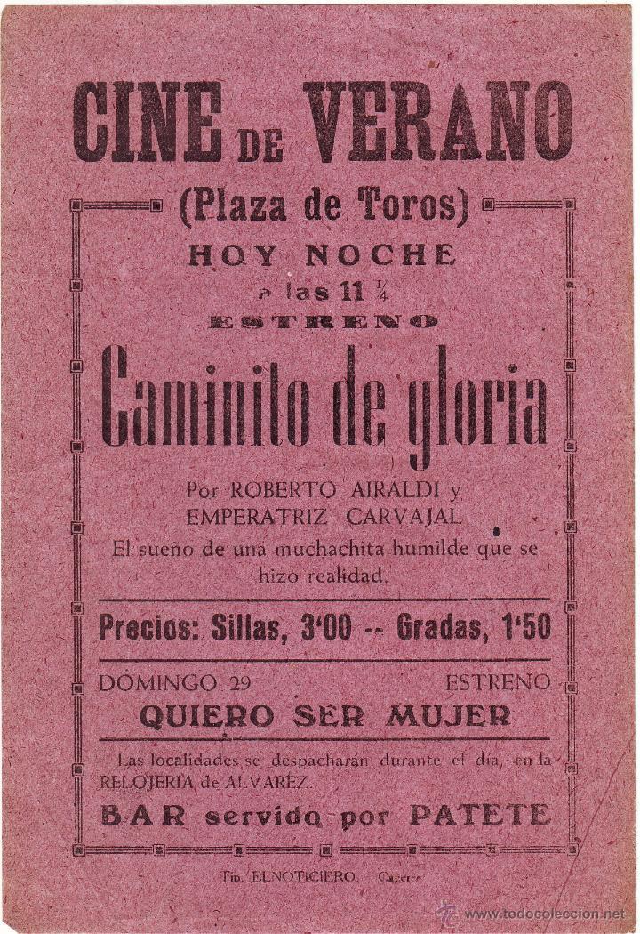 Caminito De Gloria Cine De Verano Plaza De Tor Sold Through