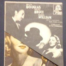 Cine: LA VUELTA DE ARSENIO LUPIN. MELVYN DOUGLAS. VIRGINIA BRUCE. WARREN WILLIAM. CINE MODERNO.. Lote 47050973