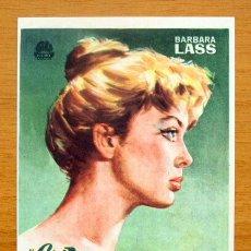 Foglietti di film di film antichi di cinema: EVA QUIERE DORMIR - BARBARA LASS - CON PUBLICIDAD. Lote 47052583