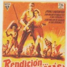 Cine: RENDICIÓN JAMÁS. SENCILLO DE RADIO FILMS. ¡IMPECABLE!. Lote 47077912