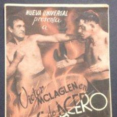 Cine: BRAZOS DE ACERO. VICTOR MCLAGLEN. CINE GUERRA.. Lote 47102153