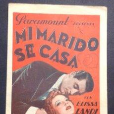 Cine: MI MARIDO SE CASA. CARY GRANT. ELISSA LANDI.. Lote 47102667