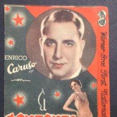 Cine: EL CANTANTE DE NAPOLES. ENRICO CARUSO. MONA MARIS. CARMEN RIO.. Lote 47102808