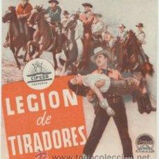 Cine: LEGIÓN DE TIRADORES. DOBLE DE CIFESA.. Lote 47104440