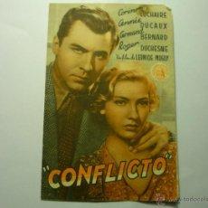 Cine: PROGRAMA DOBLE CONFLICTO .-CORINNE LUCHAIRE-PUBLICIDAD. Lote 47133051