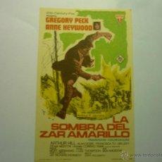 Foglietti di film di film antichi di cinema: PROGRAMA LA SOMBRA DEL ZAR AMARILLO.- GREGORY PECK. Lote 47133723