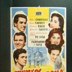 Cine: CUENTOS DE ROMA-CIANNI FRANCIOLINI-ANTONIO CIFARIELLO-FRANCO FABRIZI-CINE LA ESPERANZA-JUANINO-1957. Lote 47192187