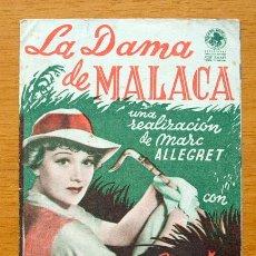 Cine: LA DAMA DE MALACA - EDWIGE FEUILLERE, PIERRE-RICHARD WILLM. Lote 47284414