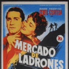 Folhetos de mão de filmes antigos de cinema: MERCADO DE LADRONES,FOLLETO DE MANO, (5108),SOLIGO,CONSERVACION,VER FOTOS. Lote 47299326