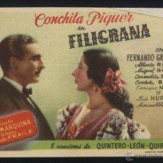 Cine: P-4970- FILIGRANA (SIN DISTRIBUIDORA) (TEATRO BERGIDUM - PONFERRADA) (CONCHA PIQUER). Lote 25953841