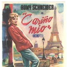 Cine: CARIÑO MIO PROGRAMA SENCILLO DIPENFA ROMY SCHNEIDER NO ESTRENADA. Lote 47329804
