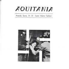 Foglietti di film di film antichi di cinema: ROMA CIUDAD ABIERTA PROGRAMA LOCAL SENCILLO CINE AQUITANIA ANNA MAGNANI ROBERTO ROSSELLINI. Lote 47345581