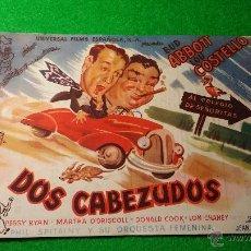 Cine: PROGRAMA DE CINE DOS CABEZUDOS CINEMA PROYECCIONES. Lote 47366240