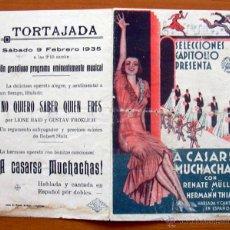 Cine: A CASARSE MUCHACHAS - PELICULA DE 1934 - RENATE MULLER, HERMANN THIMIG - CON PUBLICIDAD. Lote 47387943