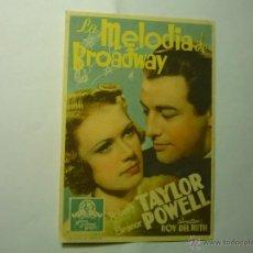 Cine: PROGRAMA LA MELODIA DE BROADWAY.-ROBERT TAYLOR. Lote 47393443