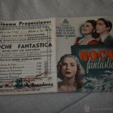 Cine: NOCHE FANTASTICA. Lote 47410630