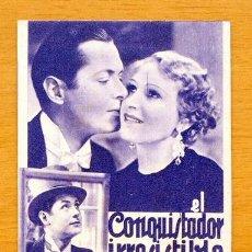 Cine: EL CONQUISTADOR IRRESISTIBLE - PELICULA DE 1932 - ROBERT MONTGOMERY, H. THATCHER, C. AUBREY SMITH. Lote 47410985