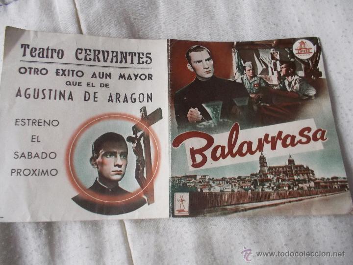 BALARRASA (Cine - Folletos de Mano - Clásico Español)