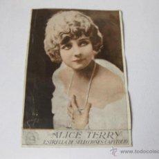 Cine: FOLLETO DE MANO O TARJETA DE ALICE TERRY. LOS CUATRO JINETES DEL APOCALIPSIS 1926. Lote 47420912