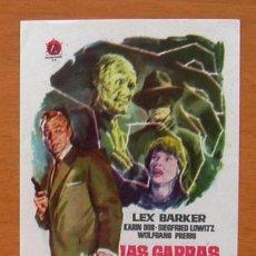 Cine: LAS GARRAS INVISIBLES DEL DOCTOR MABUSE - LEX BARKER, KARIN DOR - PUBLICIDAD CINE PARIS, TÁNGER. Lote 10642894