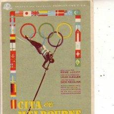 Flyers Publicitaires de films Anciens: CITA EN MELBOURNE. Lote 47442967