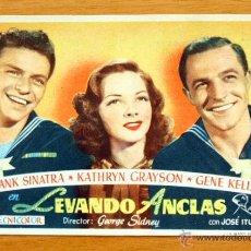 Cine: LEVANDO ANCLAS - FRANK SINATRA, KATHRYN GRAYSON, GENE KELLY - CON PUBLICIDAD. Lote 47463030